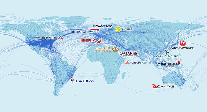 Iberia World Map.Air Nostrum Iberia Regional